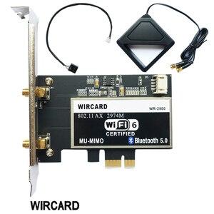 Image 1 - Dual Band 2400Mbps Drahtlose Wi Fi Netzwerk Karte Adapter Mit Wi Fi 6 Intel AX200 NGW Mit 802,11 ac/ax BT 5,0 Für Desktop