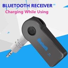 Vikefon receptor bluetooth mini aux 3.5mm jack estéreo adaptador de áudio sem fio bluetooth transmissor do carro receptor música automática