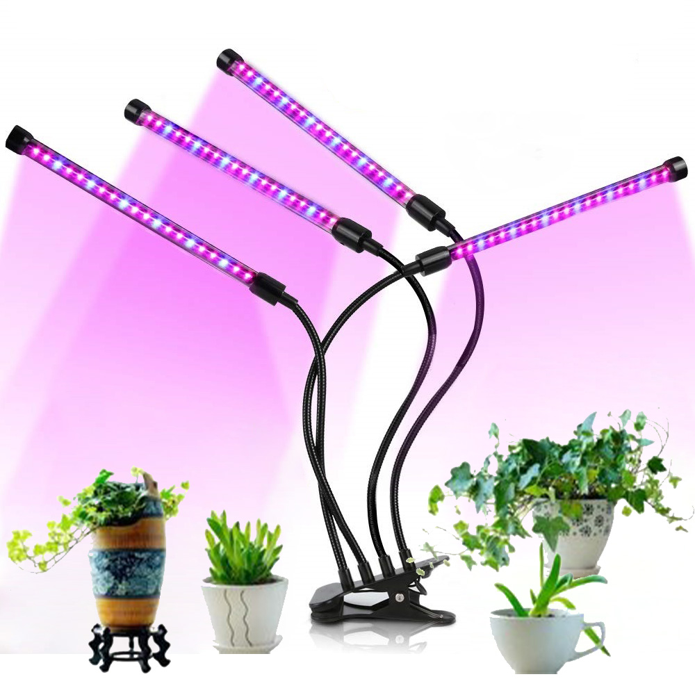 Grow Light For Indoor Plants LED Lamp Bulbs With Red Blue Full Spectrum With 3/9/12H Timer Clip-On Desk LED Plant Growing Lamps