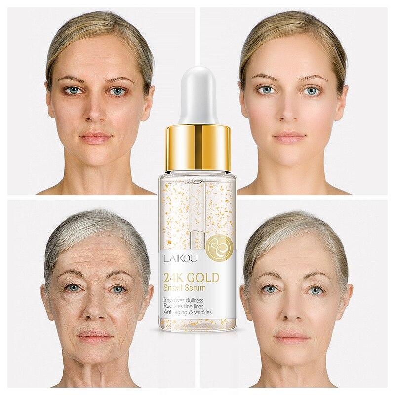24k ouro caracol soro rosto anti rugas anti envelhecimento clareamento hidratante creme dia cuidados com o rosto beleza tslm1