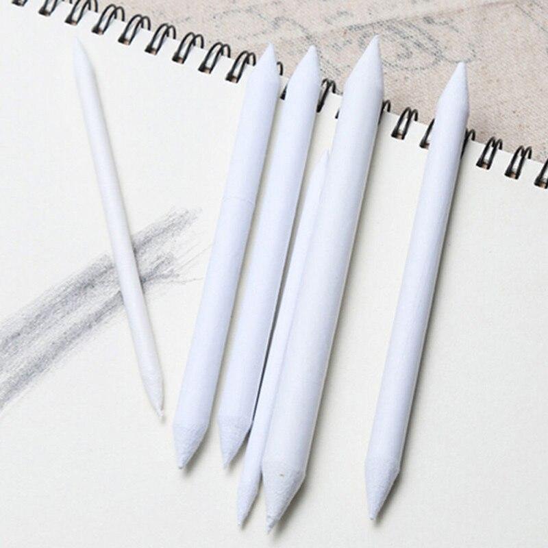 6 шт./компл. растушевка пень палка растушеванный Эскиз Арт Белый чертёжный угольный карандаш эскизный инструмент рисовая бумага Пишущие принадлежности