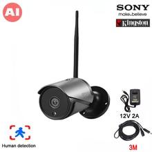 5MP/4MP/2MP noir 36 pièces led infrarouges H.265 + ICsee 25fps 128GB IP66 humain détecter ONVIF Audio extérieur sans fil AI IP WIFI caméra