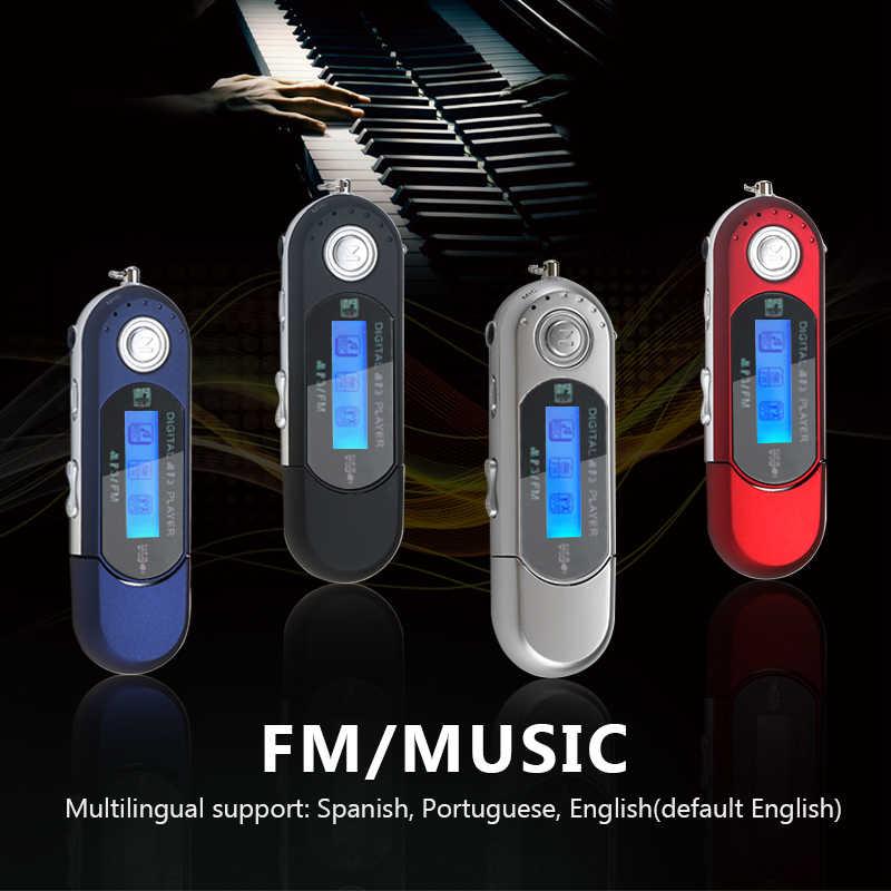 Reproductor de música USB MP3 pantalla LCD Digital Compatible con tarjeta TF de 32GB y Radio FM con micrófono reproductor MP3 Rojo Negro
