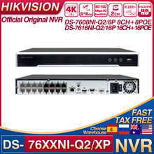 Hikvision NVR DS-7608NI-Q2/8P DS-7616NI-Q2/16P 8/16CH POE NVR 8MP 4K H.265+ 2 SATA for POE IPC Security Network Video Recorder