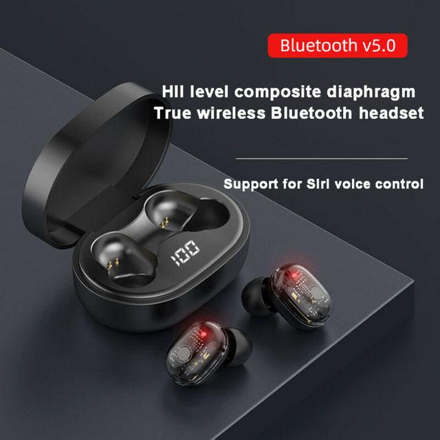 Bluetooth 5.0 Headset TWS True Wireless Headphones Earbuds Mini Stereo Earphones Dual Dynamic Driver Headphones