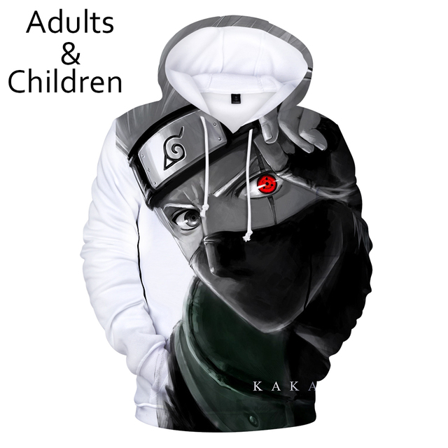 3D Naruto Hoodies Men women Sweatshirt New Fashion Kids Hooded Autumn Casual 3D Cartoon Naruto Harajuku Hip Hop boys pullovers