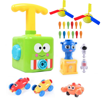 Two-in-one New Power Balloon Car Toy Inertial Power Balloon launcher Education Science Experiment Puzzle Fun Toys for Children