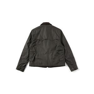 Image 3 - Уличная винтажная Вощеная хлопковая куртка 80 х годов мужское охотничье пальто в коротком стиле оливковая