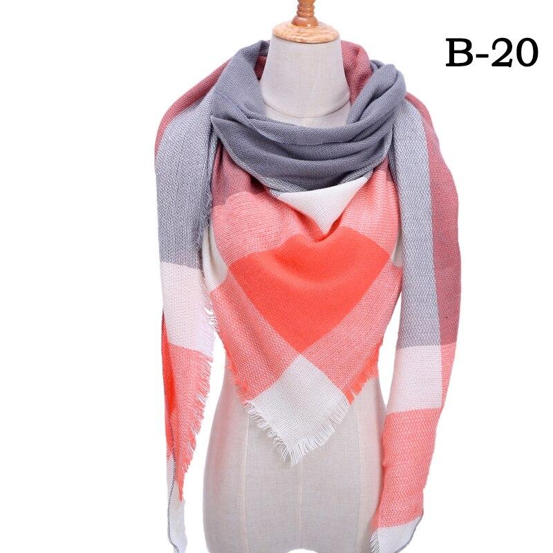 Женский зимний шарф в ретро стиле, кашемировые вязаные пашмины шали, женские мягкие треугольные шарфы, бандана, теплое одеяло, новинка - Цвет: bb20