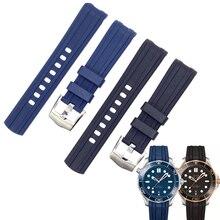 20mm strap bracelet belt for new SEAMASTER 300 m diving watch 42mm watch rubber bands blue black sports 007