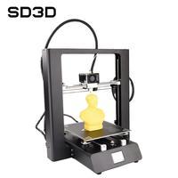 Sd3d impressora 3d máquina completa 2.4 polegada toque lcd falha impressão de extrusão de curta distância impressora 3d SD ONE|Impressoras 3D| |  -