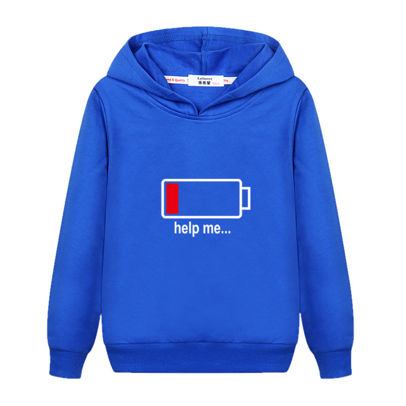 Electricity 100% Design Kids Pullover Long Sleeve Cotton Hoodie Boys Autumn Casual Sweatshirt Girls Energy Spring Clothes Child Jacket 4