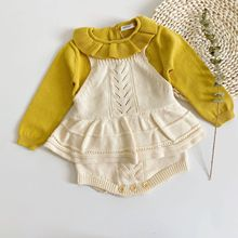 Clothing Sweater Outwear Girls Baby Winter Infant Spring New Autumn Lotus-Leaf-Collar