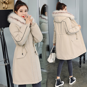 Image 3 -  30 Degrees New 2020 Women Winter Jacket Hooded Fur Collar Female Winter Coat Long Parkas with Fur Lining Plus Size Fur Parka