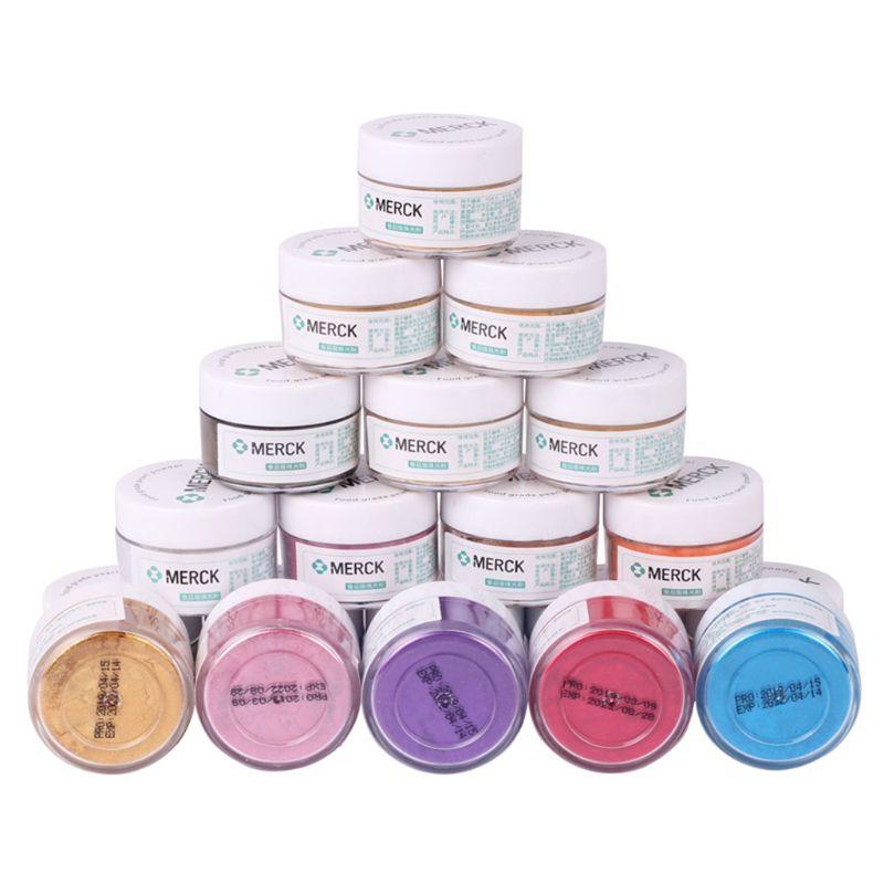 New 5g Baking Decorative Powder Flash Glitter Powder Baked Edible Pigments Decorating Food Cake Biscuit Cake DIY Pigment