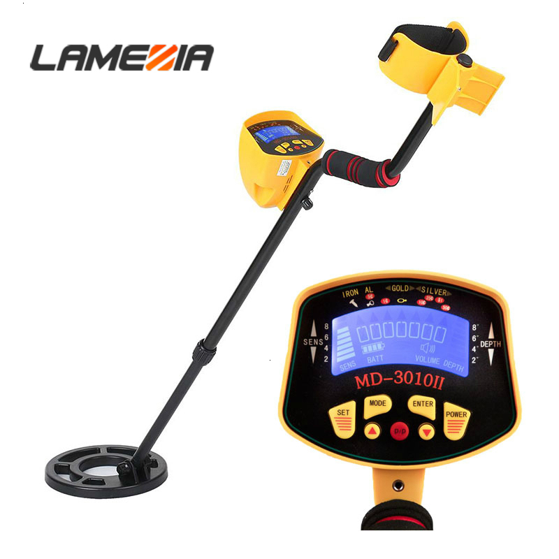 LAMEZIA <font><b>MD</b></font>-II <font><b>3010</b></font> Portable Metal Detector Underground High Sensitivity Gold Pinpointing Digger Finder Treasure Hunter Detect image
