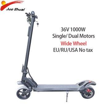Patinete eléctrico para adultos de 36V, 500W, 1000W, motores duales, rueda ancha...