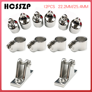 Image 1 - Bimini Top Fitting Marine Grade 316 Stainless Steel Slide Sleeve Cap Base Mount Hinge Sets Yacht Boat Accessories