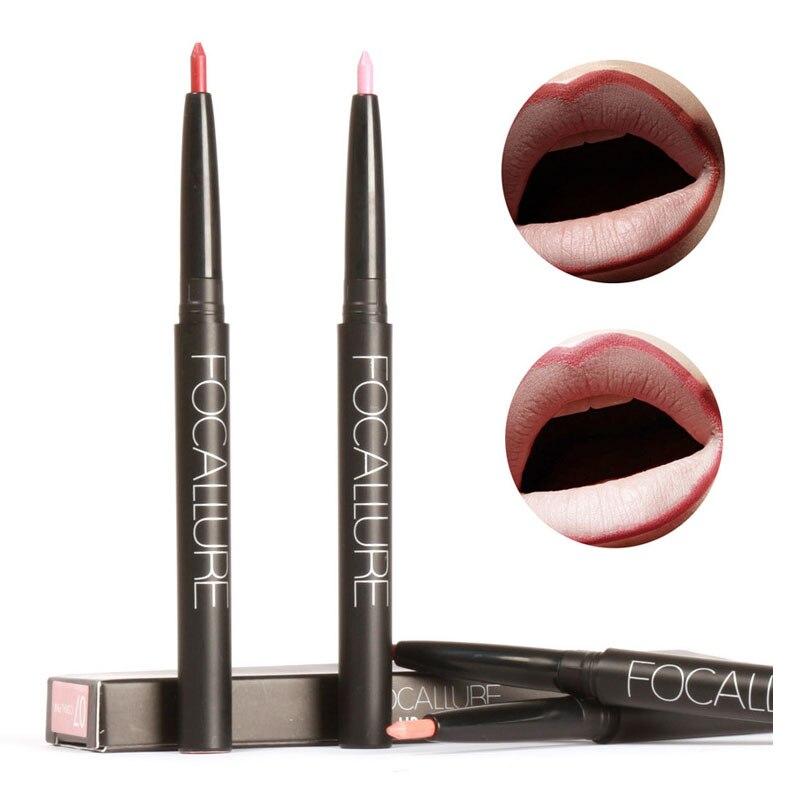 Focallure Lip Makeup Lipliner Pencil Waterproof Long Lasting Lip Contour Makeup Pen 12 Colors Matte Lip Liner Pen FA39