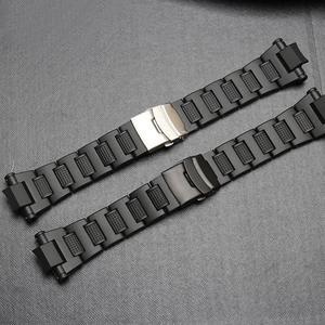 20 мм черный ремешок для часов из нержавеющей стали для Casio G-SHOCK часы Gw-a1100fc Gw-a1000 специальный ремешок браслет часы аксессуары