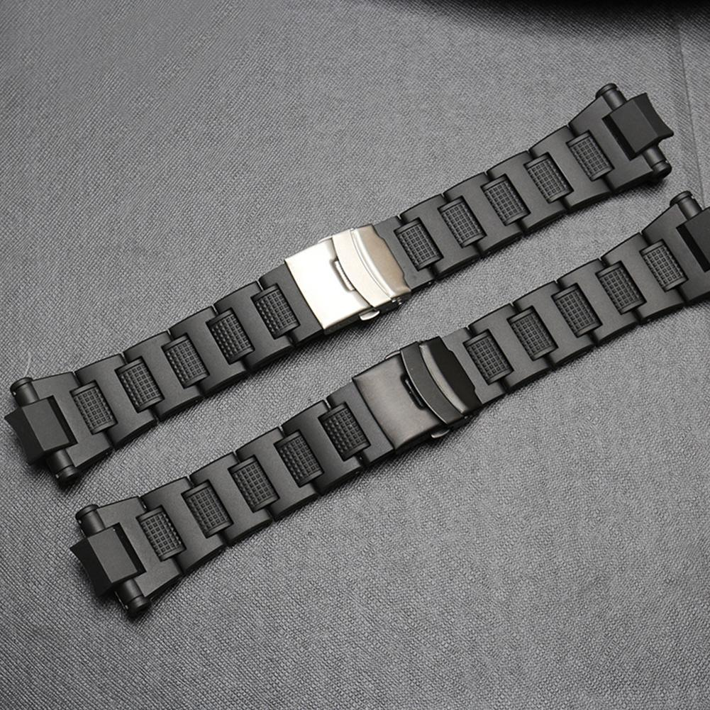 20mm Black Stainless Steel Watchband For Casio G-shock Watch Gw-a1100fc Gw-a1000 Dedicated Strap Bracelet Watches Accessories