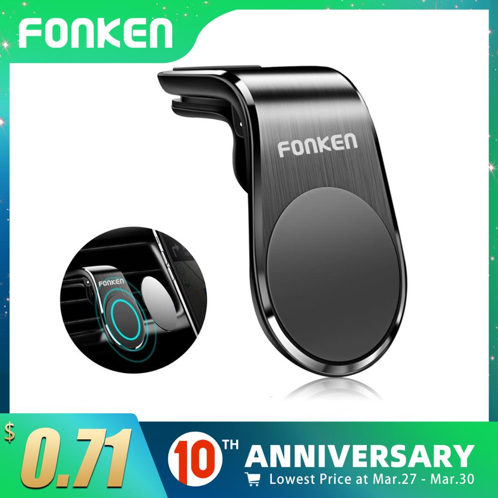 FONKEN Magnetic Car Phone Holder Mount Stand Universal Air Vent Clip Mount For IPhone 11 Pro Max Huawei Xiaomi In GPS Navigation