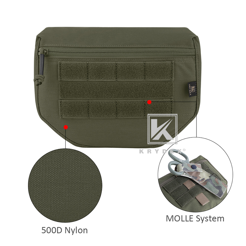 Tactical Armor Carrier Drop Pouch AVS CPC JPC Vest Waist Pack Tool Organizer Bag