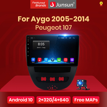 Junsun 4G+64G Android 10 For PEUGEOT 107 Citroen C1 Toyota Aygo 2005 - 2014 Auto 2 din Car Radio Stereo Player Bluetooth GPS dvd