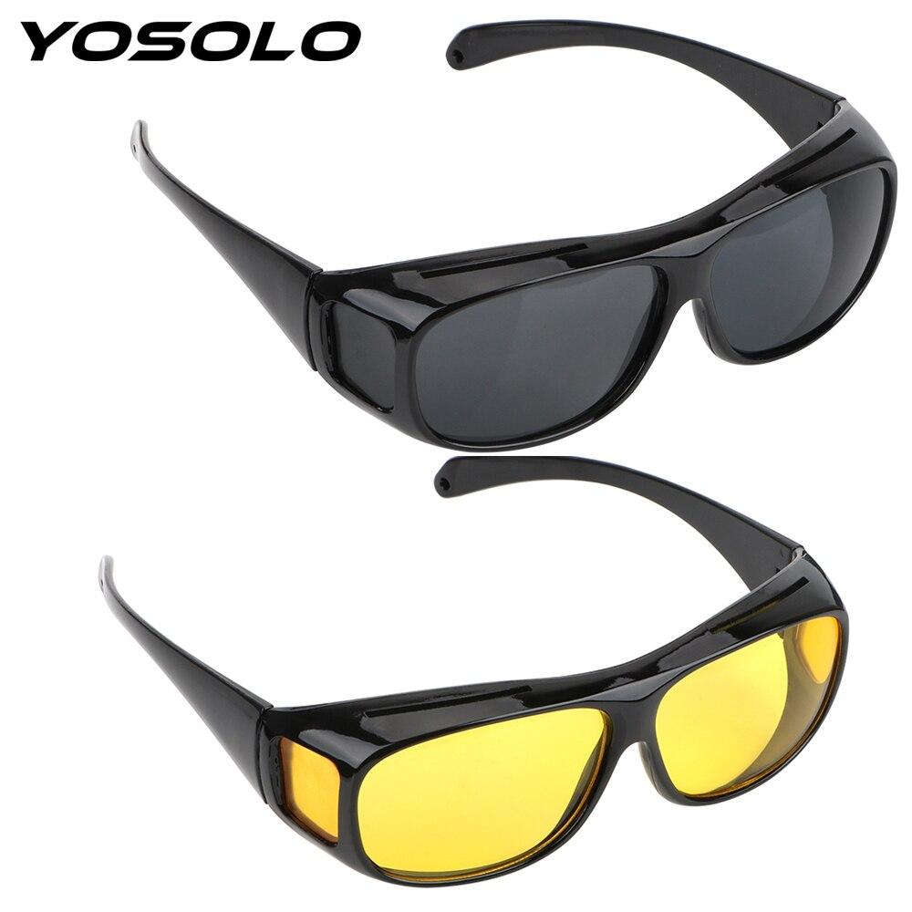 Yosolo carro óculos de condução visão noturna óculos de sol unisex visão hd óculos de sol proteção uv