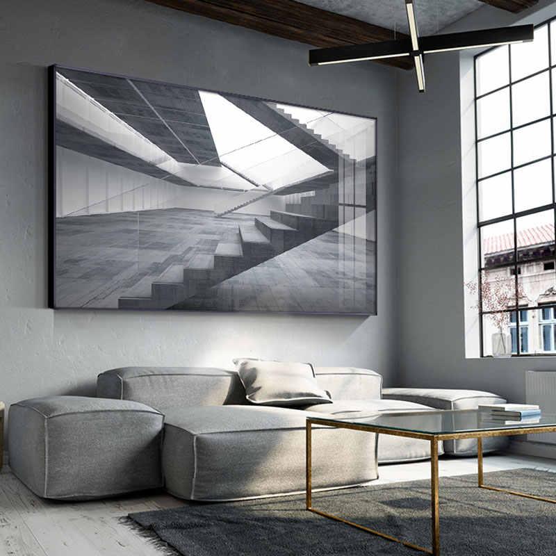 現代の産業スタイルポスター折りたたみスペース階段絵画写真の壁リビングルームの寝室の通路ホームデコ