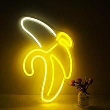 Неоновый светильник в форме банана настенная Подвесная лампа