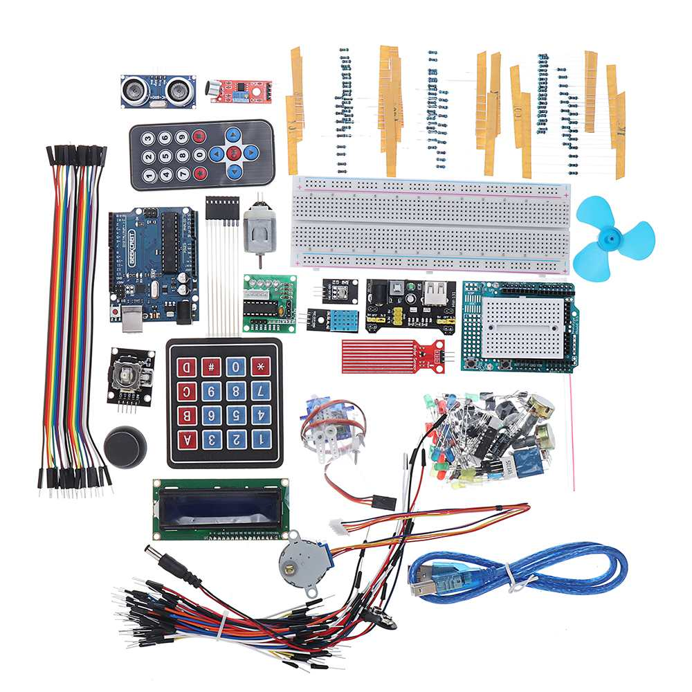 For UNO R3 Super Starter Kit LCD1602 Breadboard Power Supply Board Buzzer For Arduino