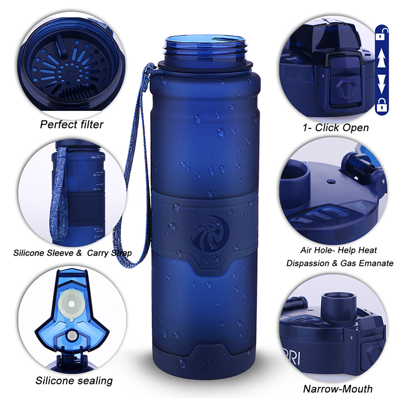 Hcb6511753f2148259e1a3fc2afc6f0969 Best Sport Water Bottle TRITAN Copolyester Plastic Material Bottle Fitness School Yoga For Kids/Adults Water Bottles With Filter