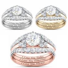 Модный тренд роскошное геометрическое женское кольцо с микро
