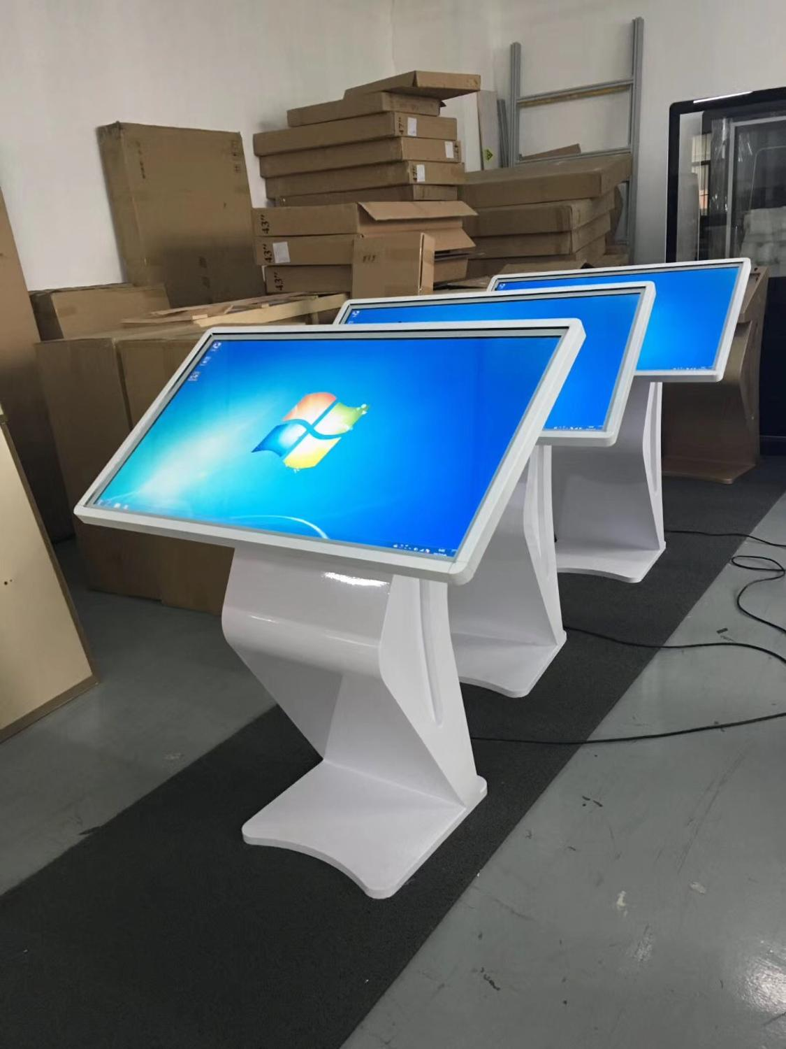 55 Inch Standalone Floor Map Guide Table Touch Lcd Advertising Screen Kiosk With CPU I5 RAM 4GB PC Built In