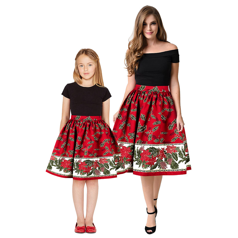 Christmas Girls Dress Teens Girls Party Dresses For Girls Family Matching Outfits New Year Mom Daughter Dresses Carnival Dress (6)