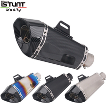 Universal 36-51mm Motorcycle Exhaust Pipe Escape Modified Muffler DB Killer moto Scooter For R25 Z750 R6 ATV MT07 MT125 CBR500 motorcycle exhaust pipe muffler escape db killer 36mm 51mm for ducati st2 st4 s abs 748 750ss 800ss 900ss 1000ss 996 998 1098