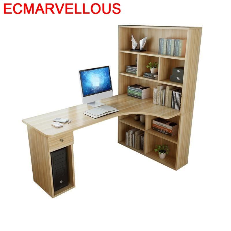 Portable Para Tafelkleed Escritorio De Oficina Desk Notebook Office Mesa Bedside Stand Computer Laptop Table With Bookshelf