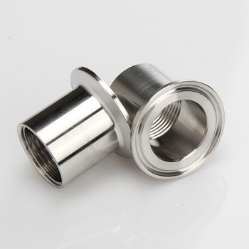 1-1/4 DN32 Stainless Steel SS304 Sanitary Female Threaded Pipe Fittings Ferrule OD 64mm fit 2 tri Clamp 1 25mm ss304 stainless steel sanitary tri clamp butterfly valve brew beer dairy product