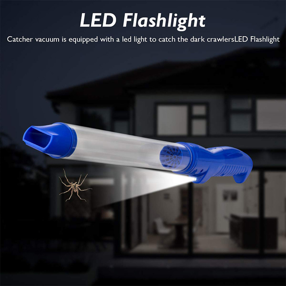 Sucker Spider Vacuum LED Insect Suction Trap Catcher Fly Bugs Insect Killer Safety Repellent Insecticidal Bug Insect Trap