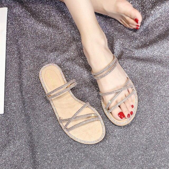 Женская обувь с блестящими стразами, обувь для девушек, женская обувь на резиновой подошве