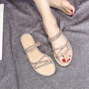 Image 1 - women fat Shoes with shiny rhinestones Girl shoes ladies Rubber soled shoes
