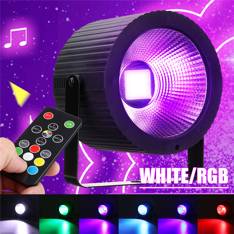 LED Par Lights For Stage Lighting COB RGB Stage Lights By Remote Control Voice-activated / Auto / Strobe For Wedding DJ Lights