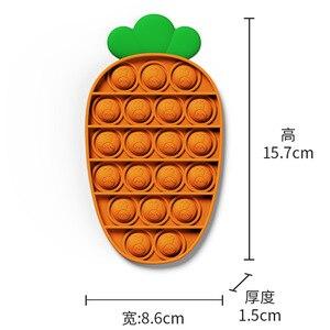 Пуш ап вытолкнуть его пузырь морковь игрушки Fidget аутизма особых потребностей сенсорными Антистресс игрушка для снятия напряжения Popit игры игрушка в подарок для детей|Игрушки-эспандеры|   | АлиЭкспресс