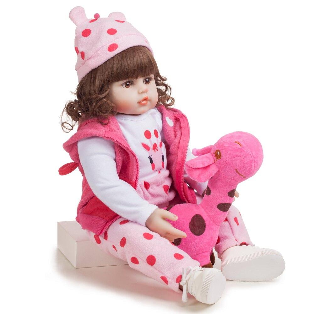 48cm Silicone Reborn bébé poupées Bebe réaliste réaliste bambin vraie fille poupée lol jouets pour enfants meilleur cadeau pour anniversaire - 3