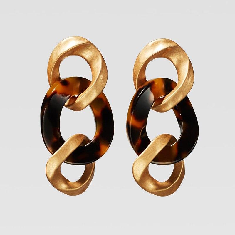 Dvacaman ZA, золотое ожерелье на цепочке, Чокеры для женщин, металлическое круглое звено, массивное ожерелье, s макси панк, модные вечерние ювелирные изделия - Окраска металла: 18