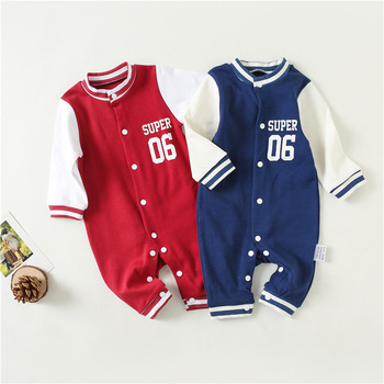 Baby Rompers Long Sleeve Jumpsuit Newborn Clothes Spring Autumn Pajamas,New Style Cotton Baby Girl Boy Clothes 2018 newborn baby boys girl rompers spring children clothes long sleeve autumn baseball uniform jumpsuits cotton pajamas