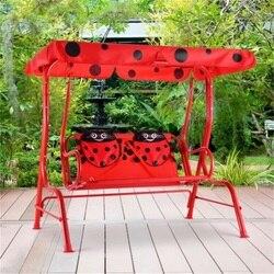 2 osoby dzieci Patio huśtawka ganek ławka z baldachimem wysokiej jakości trwała piękna ogrodowa krzesło bujane na Patio OP3037