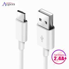 Câble de USB Type C 1m 2m 3m pour Samsung Galaxy S10 S9 S8 Plus OnePlus 6t chargeur de USB C de charge rapide câbles de téléphone portable type c
