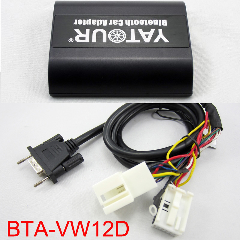 Yatour BTA Bluetooth Hands Free Call Smart Phone A2DP Car kits For 12pin VW Audi Skoda Seat Quadlock Keep existing CD changer